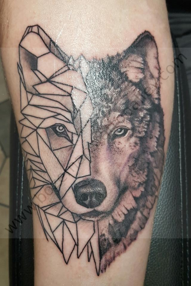 Geometric Wolf Bozemans Tattoo Alley Llc Pictures