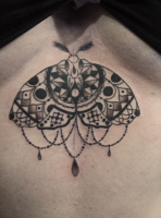 Mix of a moth and a mandala, one session around two hours